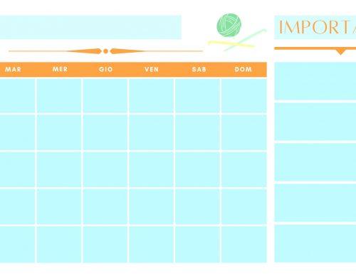 Planner mensile scaricabile e stampabile